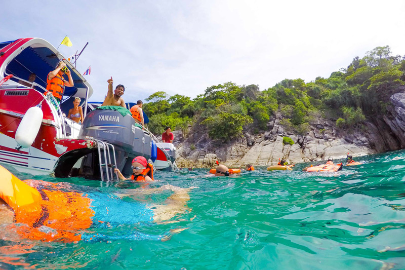 Coral Island by Speed Boat